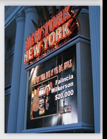 New York New York Casino LED screen in Las Vegas